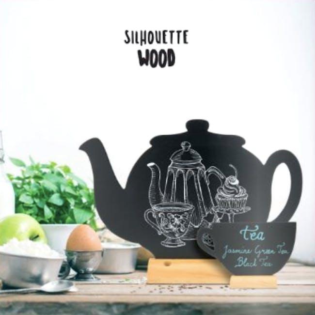 Securit Mini Teacup-Shaped Table Chalkboard - 1