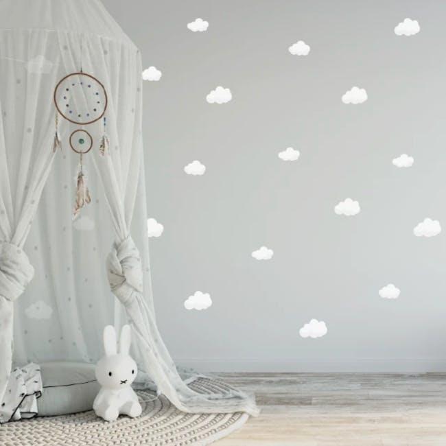 Urban Li'l Petite Clouds Fabric Decal - 0