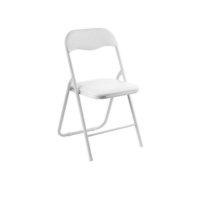 Meko Folding Chair - White - 0