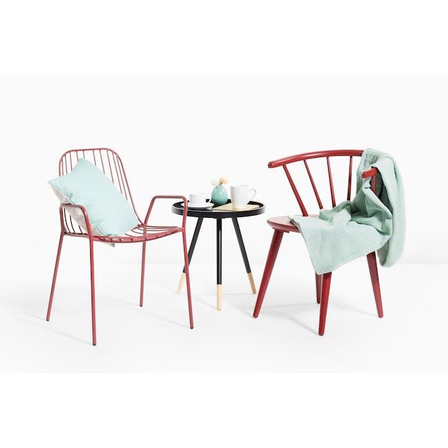 Nerissa Outdoor Armchair - Matt Red - 2