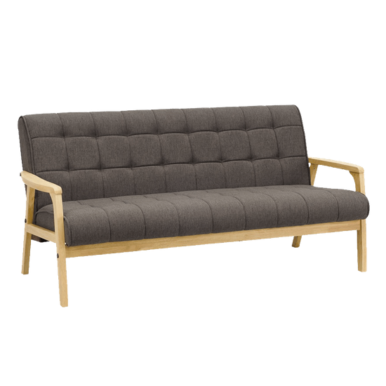 Tucson 3 Seater Sofa Natural Chestnut Shape Hipvan