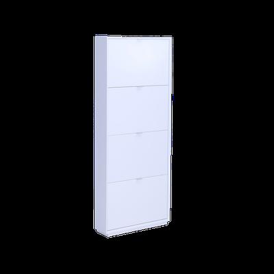 Quen 4 Door Shoe Cabinet - White - Image 1