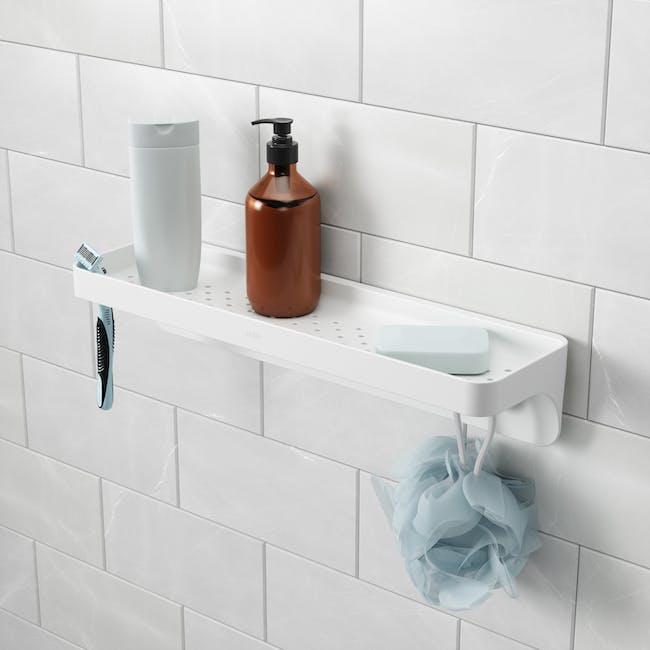 Flex Gel Lock Bathroom Shelf  - White - 4