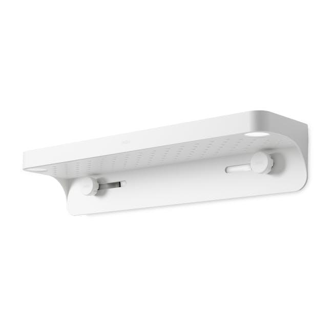 Flex Gel Lock Bathroom Shelf  - White - 2