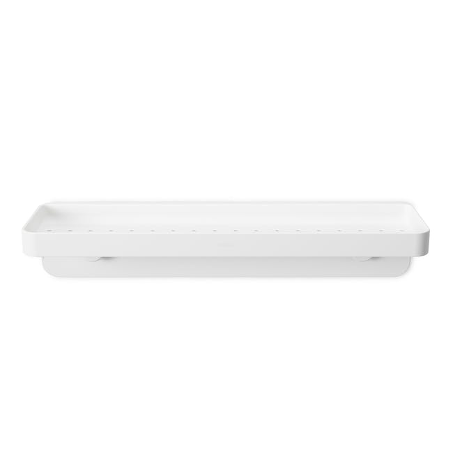 Flex Gel Lock Bathroom Shelf  - White - 1