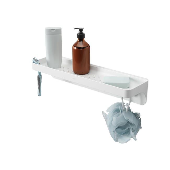 Flex Gel Lock Bathroom Shelf  - White - 0