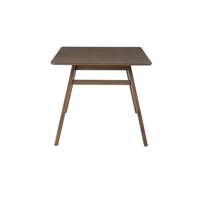 Cadell Dining Table 1.6m in Walnut with 4 Lofti Dining Chair in Cocoa, Battleship Grey - 3