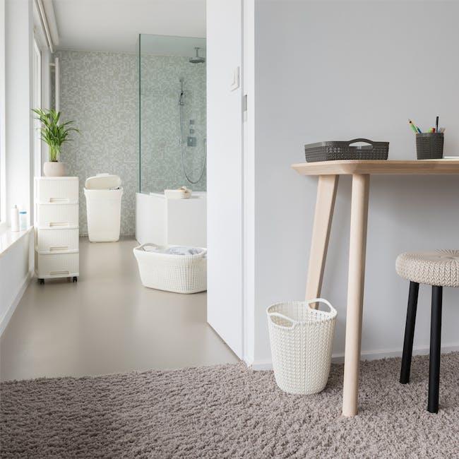 Knit Laundry Basket 40L - Oasis White - 3