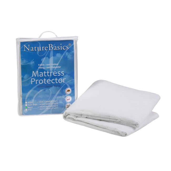Nature Basics 100% Cotton Mattress Protector (4 Sizes) - 1
