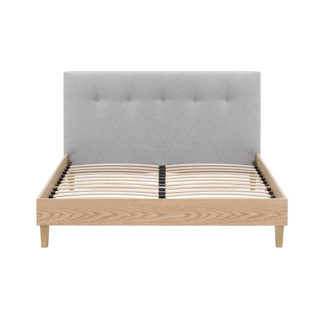 Landon King Bed with 2 Kyoto Bottom Drawer Bedside Table in Oak - 4