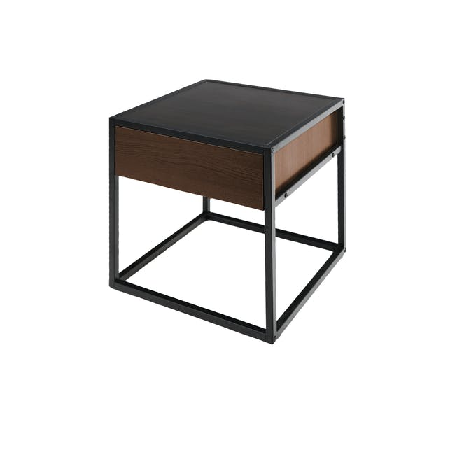 Ronan King Bed in Midnight with 2 Weston Bedside Tables - 20