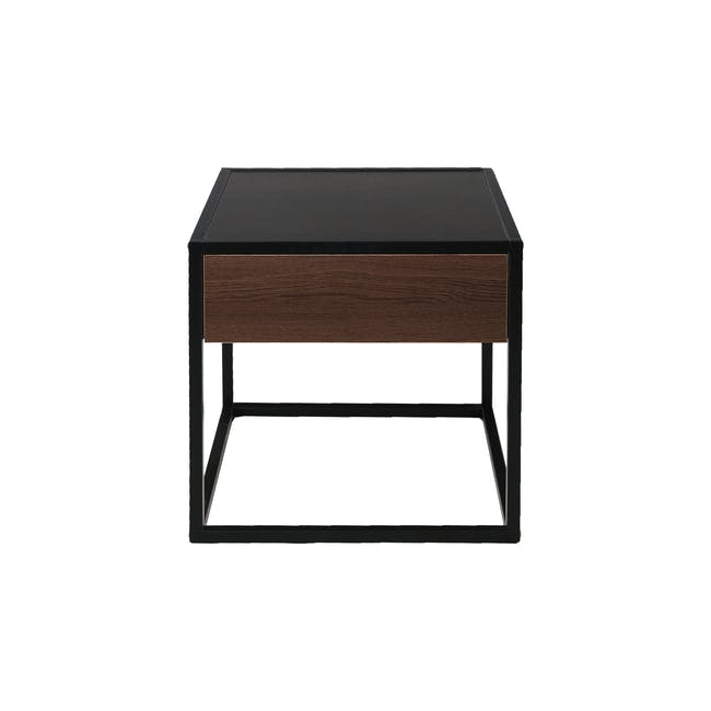 Ronan Queen Bed in Midnight with 2 Weston Bedside Tables - 17