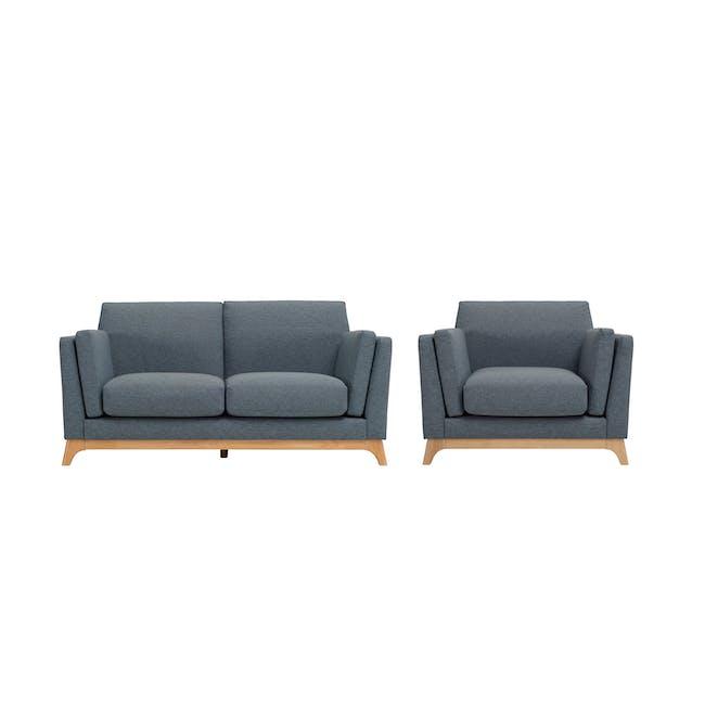 Elijah 2 Seater Sofa with Elijah Armchair - Whale - 0