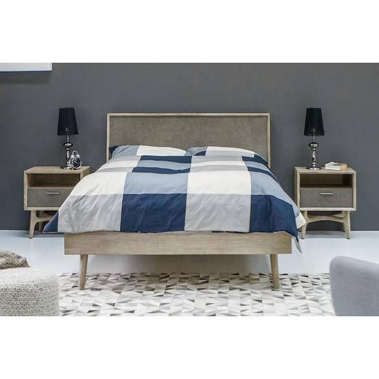 HipVan Bundles - Hendrix Queen Bed with 2 Hendrix Bedside Tables