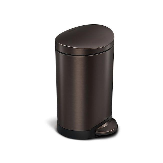 simplehuman Semi Round Step Bin 6L - Dark Bronze - 0