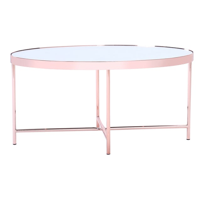 Xander Oval Coffee Table - Copper - 3