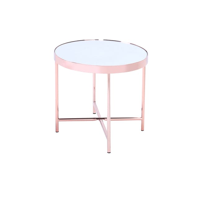 Xander Oval Coffee Table - Copper - 2