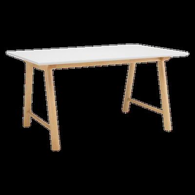 Ernest Dining Table 1.5m - White, Oak - Image 1