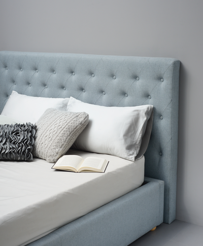 (As-is) Dustin King Bed Frame - Aquamarine -3 - Image 2