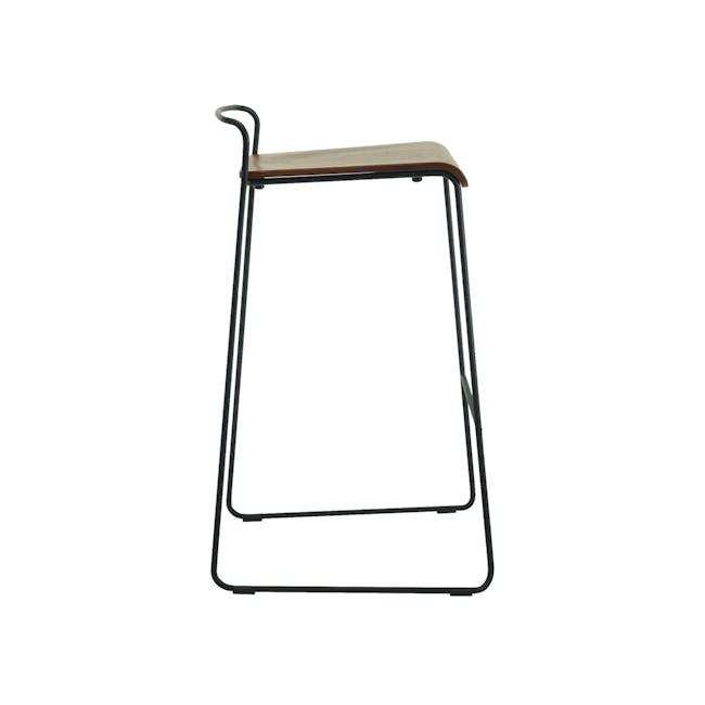 Colby Bar Chair - Walnut, Matt Black - 4