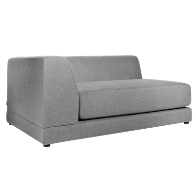 Abby Left Arm Chaise Sofa - Grey - Image 2