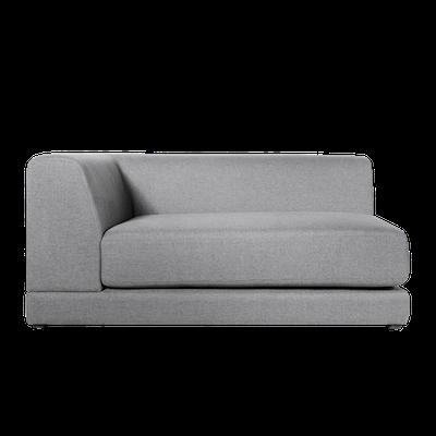 Abby Left Arm Chaise Sofa - Grey - Image 1