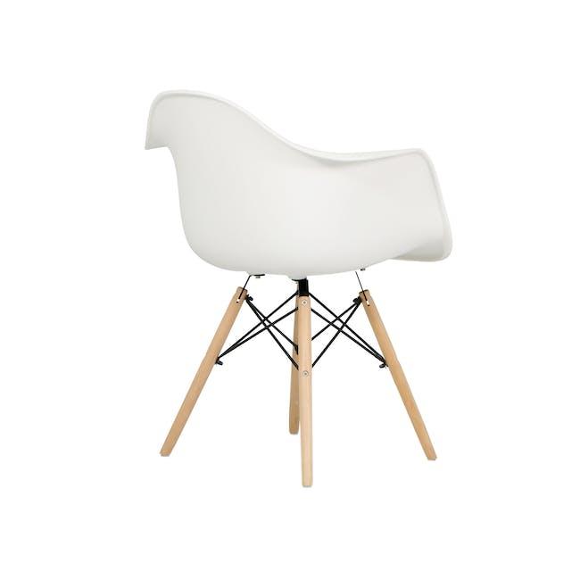 DAW Chair - Natural, White - 4
