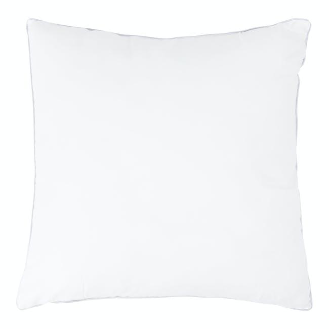 Bold Stripe Linen Cushion - Blue - 2