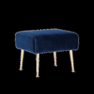 Alero Ottoman - Midnight Blue (Velvet) - Image 2