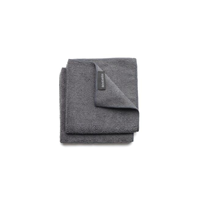 Microfibre Cleaning Cloths (Set of 2) - Dark Grey - 0