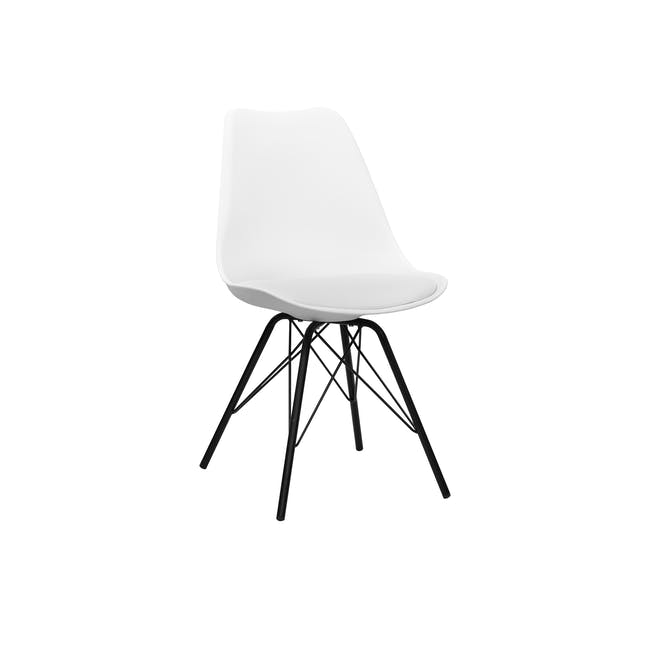 Axel Chair - Black, White - 0