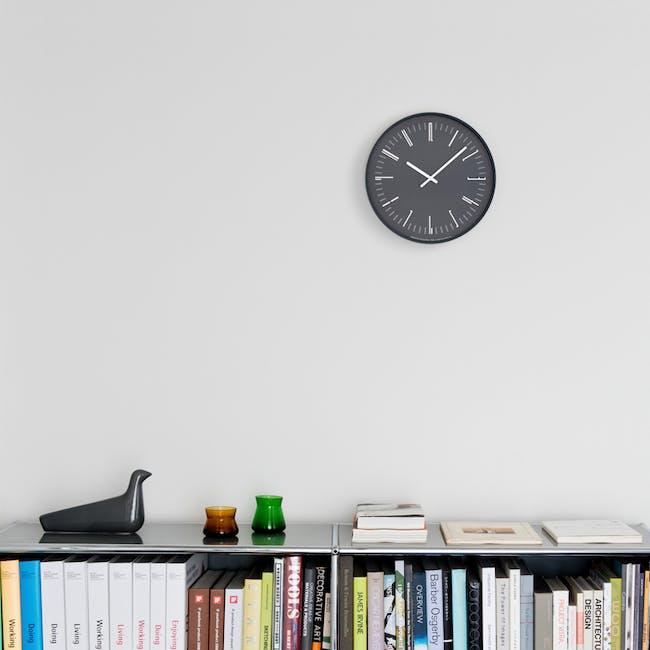 Draw Wall Clock (Flat) -Black - 1
