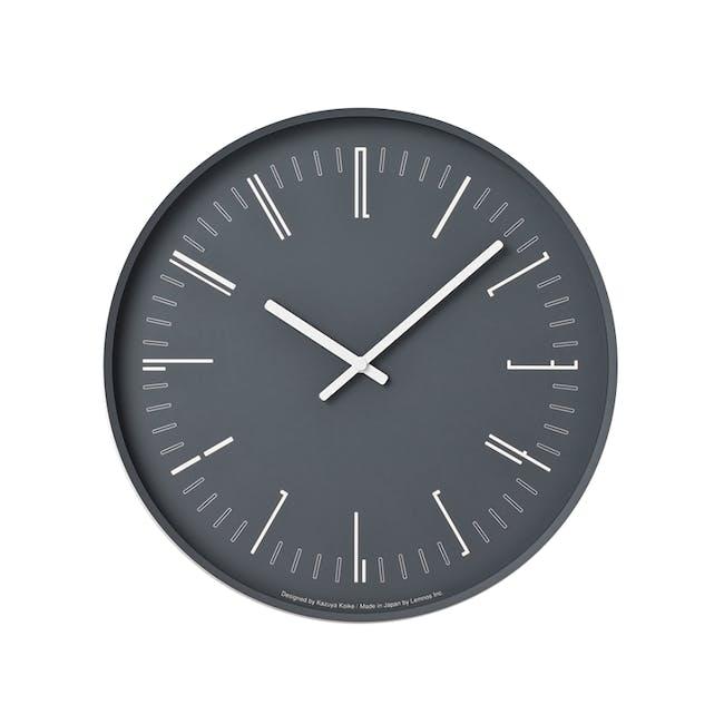 Draw Wall Clock (Flat) -Black - 0