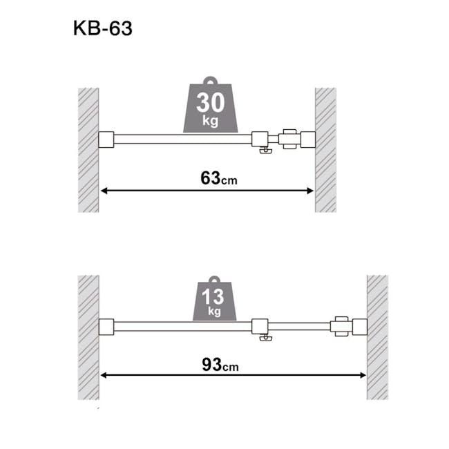 HEIAN DIY Full Extension Shelf - 75cm to 120cm - 7