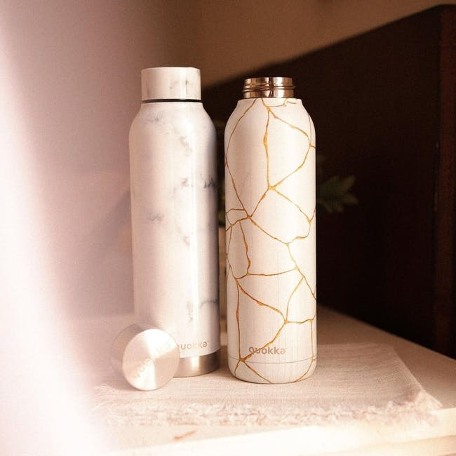 Quokka Stainless Steel Bottle Solid - Marble 630ml - 1