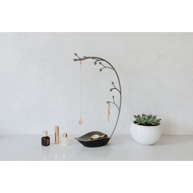 Orchid Decor Jewelry Stand - Gun Metal - 3
