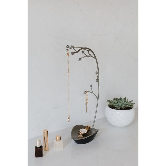 Orchid Decor Jewelry Stand - Gun Metal - 4