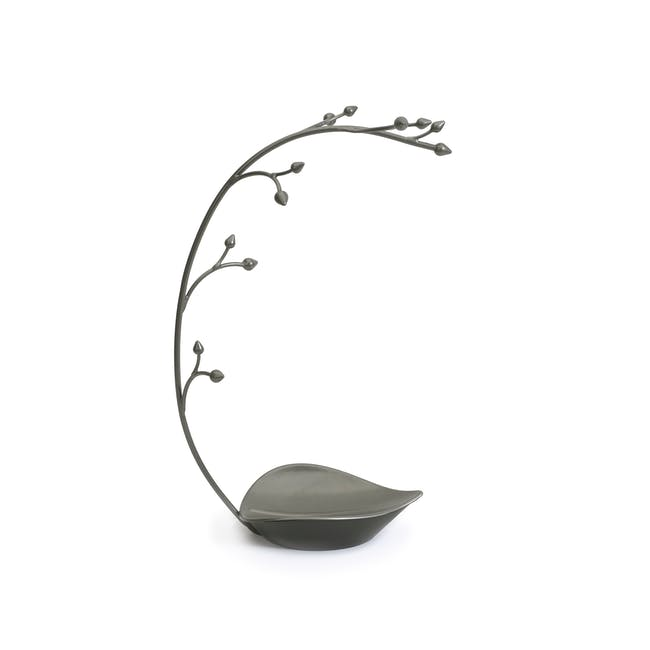 Orchid Decor Jewelry Stand - Gun Metal - 0