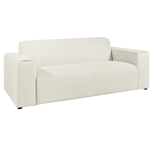 Adam 3 Seater Sofa in Pearl with Veronic in Forest Green - 2