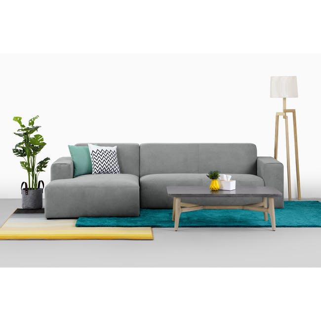 Adam 3 Seater Sofa in Pearl with Veronic in Forest Green - 5