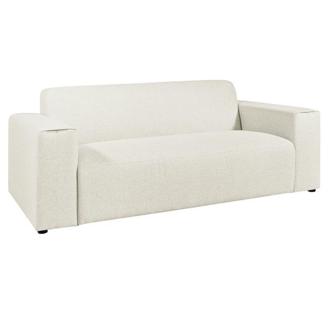 Adam 3 Seater Sofa - Pearl - 1
