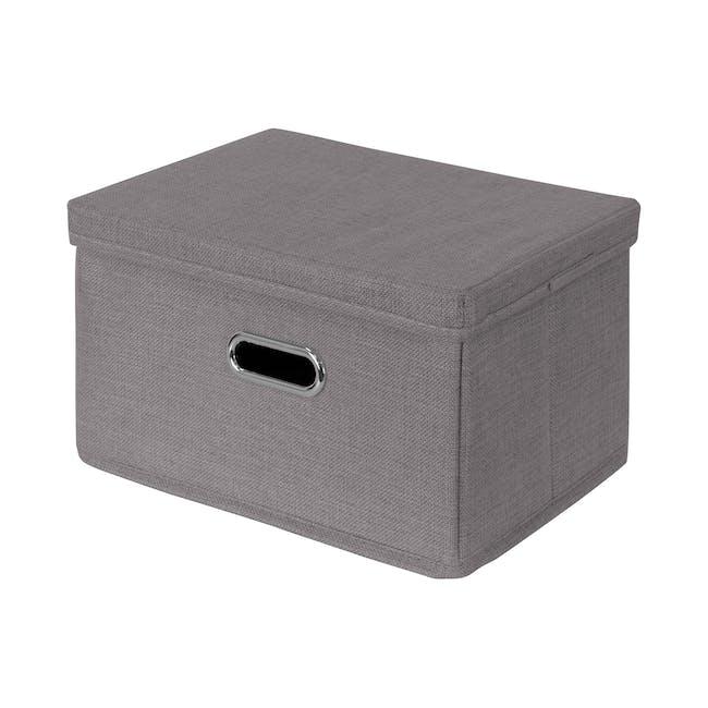 Leonard Fabric Storage Box - Slate - Large - 0