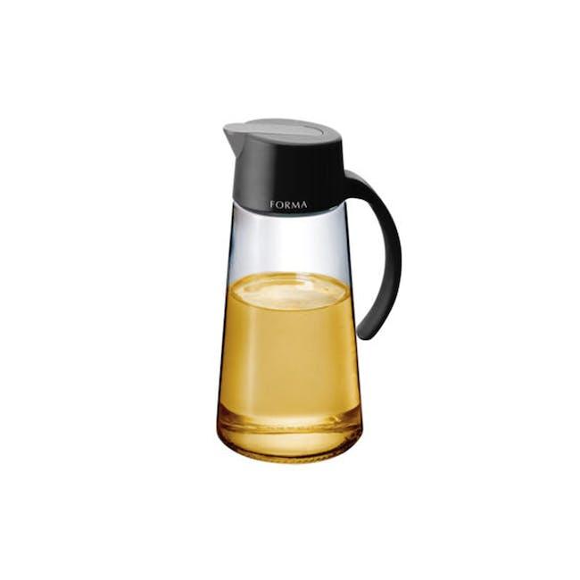 Asvel Forma 650ml Glass Oil Pot - Black - 0