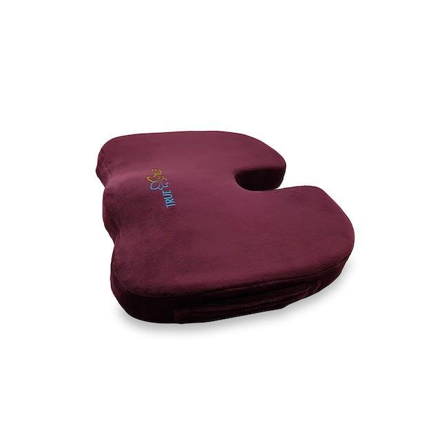 True Relief Ortho-Seat Memory Foam Cushion - Wine Red - 0