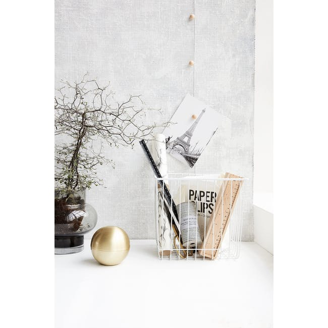 Stak Wire Basket - White - Square - 3