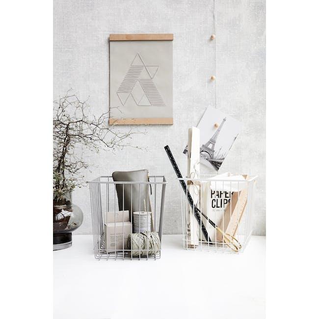 Stak Wire Basket - White - Square - 2
