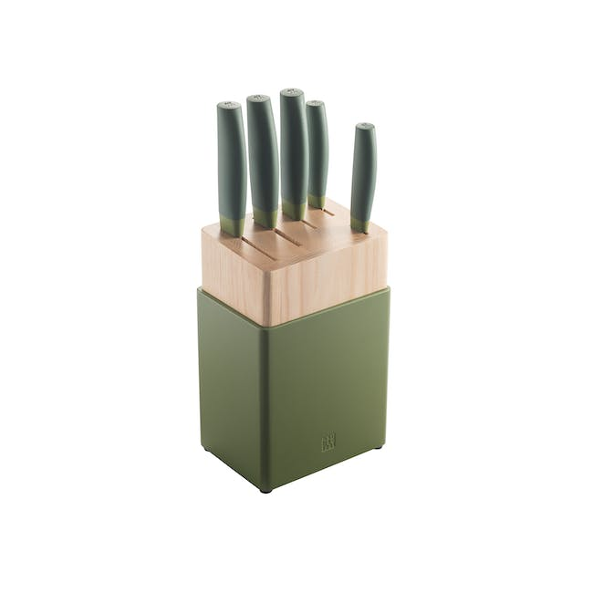Zwilling Now S 6pc Knife Block Set - Lime - 0