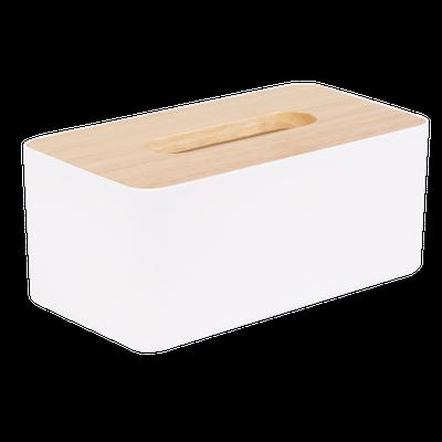 Wooden Tissue Box - White - Image 1