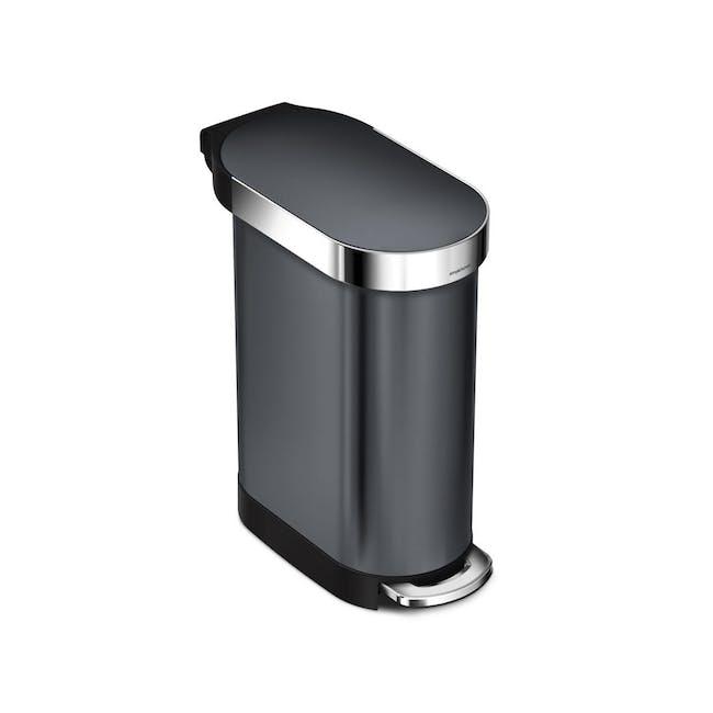simplehuman Slim Step Bin 45L - Black - 0