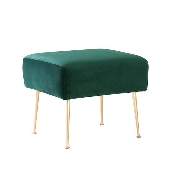 Laholm - Alero Ottoman - Dark Green (Velvet)